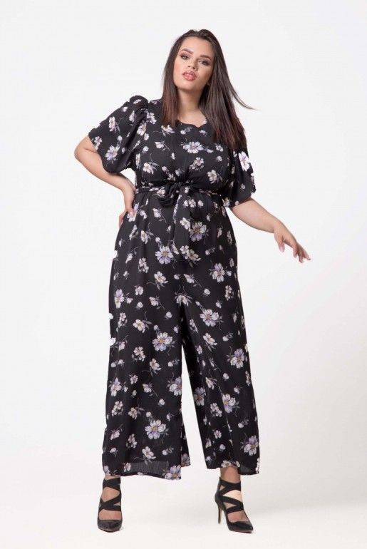 JUMPSUIT IN WOVEN PRINTED FLORAL