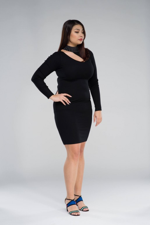 KNITTED BODYCON DRESS WITH STUDS - Image 4
