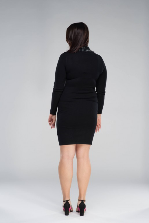 KNITTED BODYCON DRESS WITH STUDS - Image 5