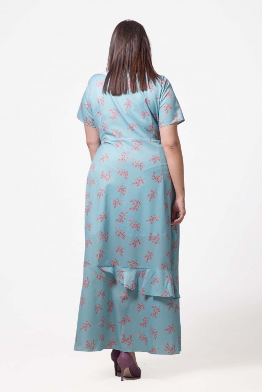 DRESS WITH WRAP IN DITSY PRINT - Image 4