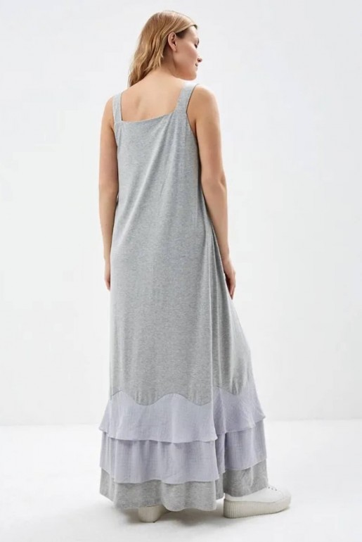 JERSEY MAXI DRESS WITH WOVEN HEM - Image 2
