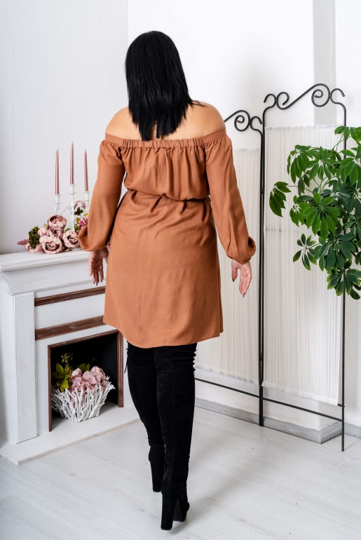 BARDOT SHIRT DRESS WITH POCKETS