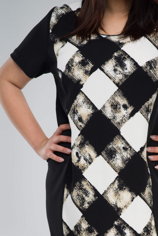 Set Dress with Jacket in checkers - Image 3