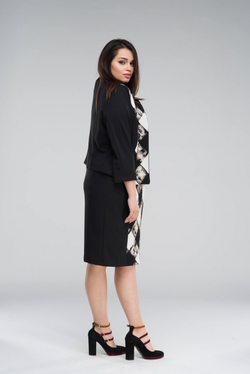 Set Dress with Jacket in checkers - Image 4