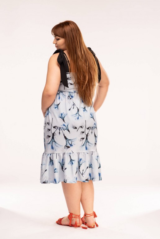 MIDI DRESS IN X-RAY FLORAL PRINT