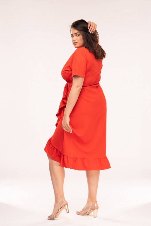 JERSEY WRAP DRESS WITH FRILL - Image 5