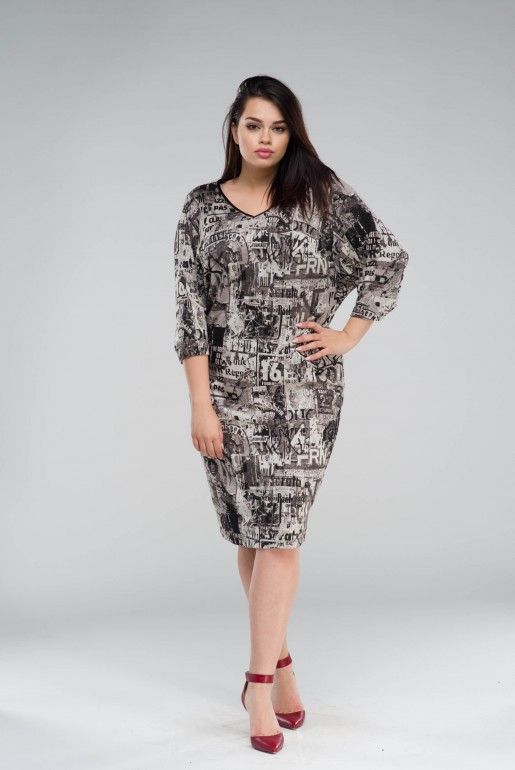 DRESS IN URBAN PRINT