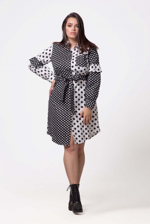 SHIRT DRESS IN MIXED SPOT