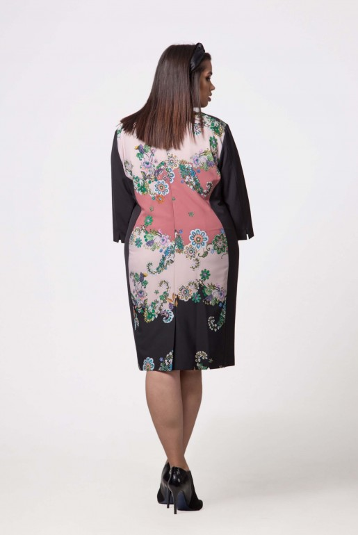 Dress in dark blue with floral print - Image 3