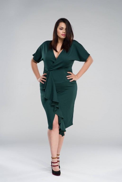 BODYCON DRESS WITH FRILL