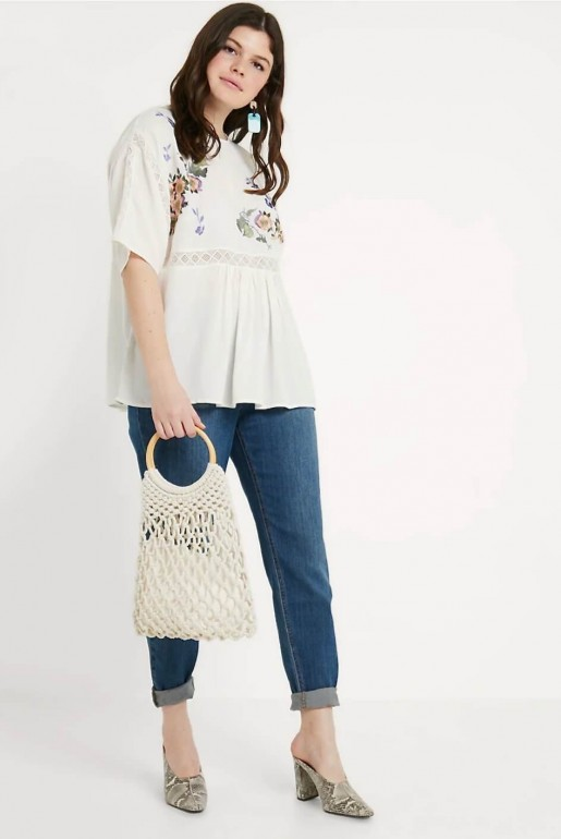SMOCK TOP WITH BLOSSOM EMBROIDERY - Image 5