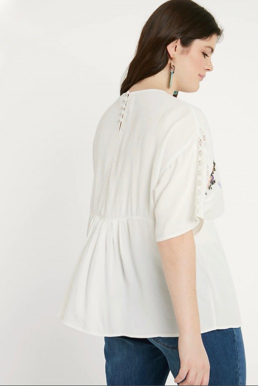SMOCK TOP WITH BLOSSOM EMBROIDERY - Image 6