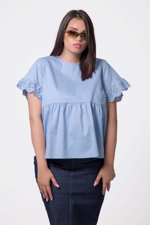 SWING TOP WITH DAISY TRIM - Image 4