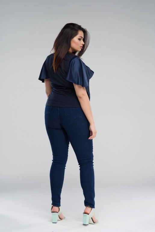 T-SHIRT WITH SATIN SLEEVES - Image 4