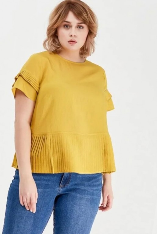 TOP WITH PLEATED PANEL