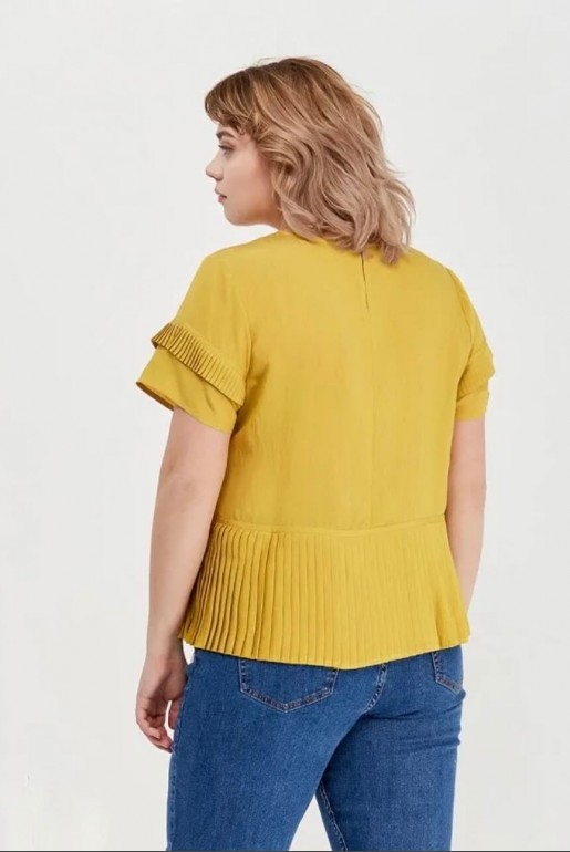 TOP WITH PLEATED PANEL - Image 3