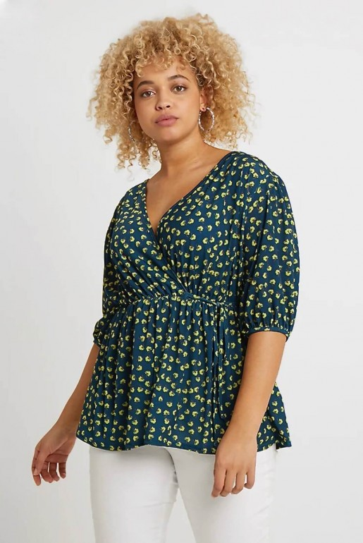 WRAP TOP IN SMALL FLORAL - Image 2
