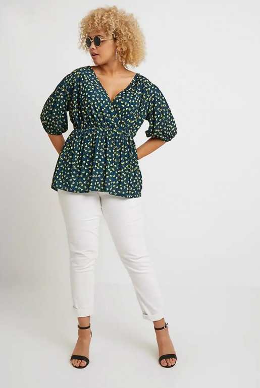 WRAP TOP IN SMALL FLORAL