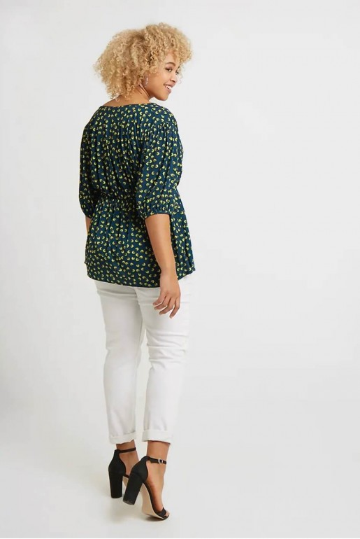 WRAP TOP IN SMALL FLORAL - Image 4