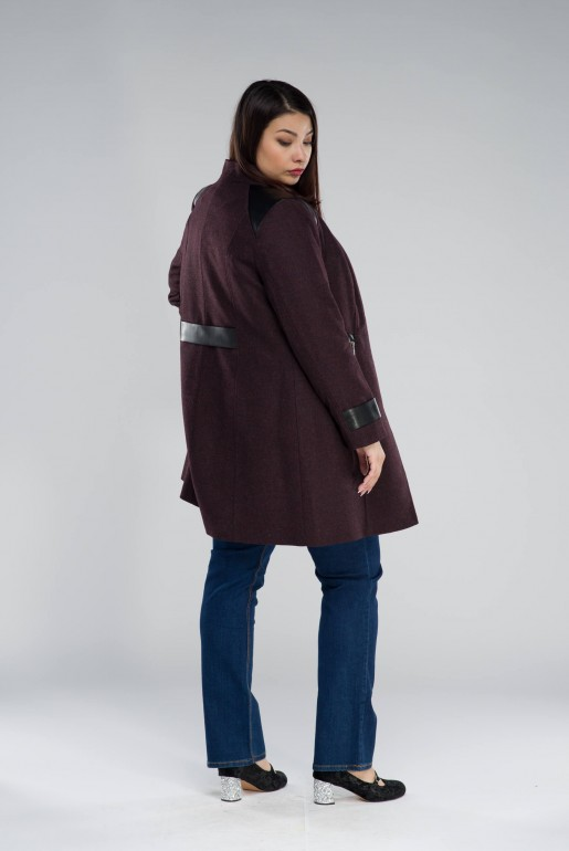 WOOL COAT MARTYNA IN WINE - Image 4