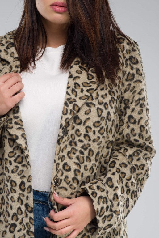 COAT IN LEOPARD PRINT - Image 3
