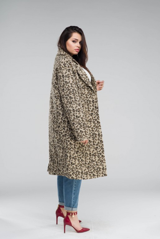 COAT IN LEOPARD PRINT - Image 4