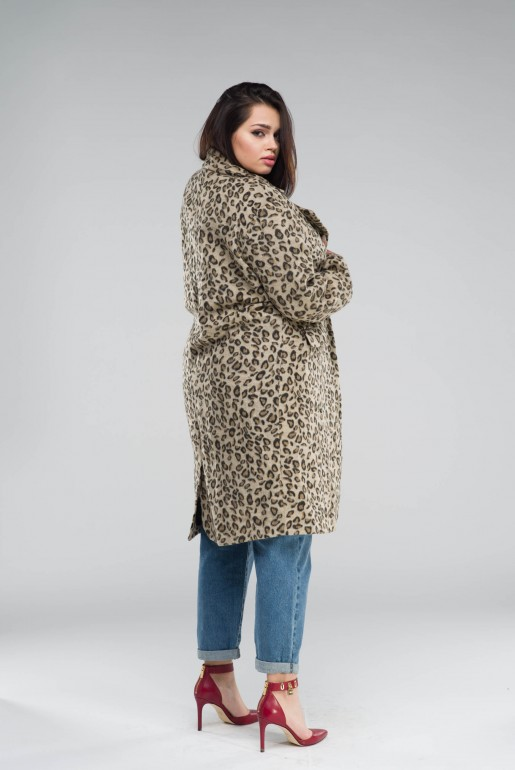 COAT IN LEOPARD PRINT - Image 5