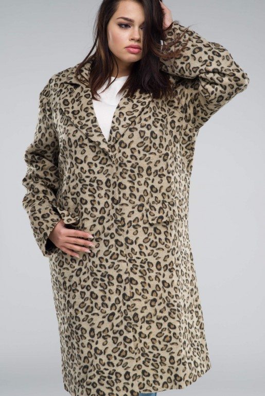 COAT IN LEOPARD PRINT - Image 6