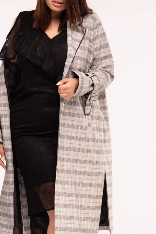 DUSTER COAT IN CHECK - Image 4