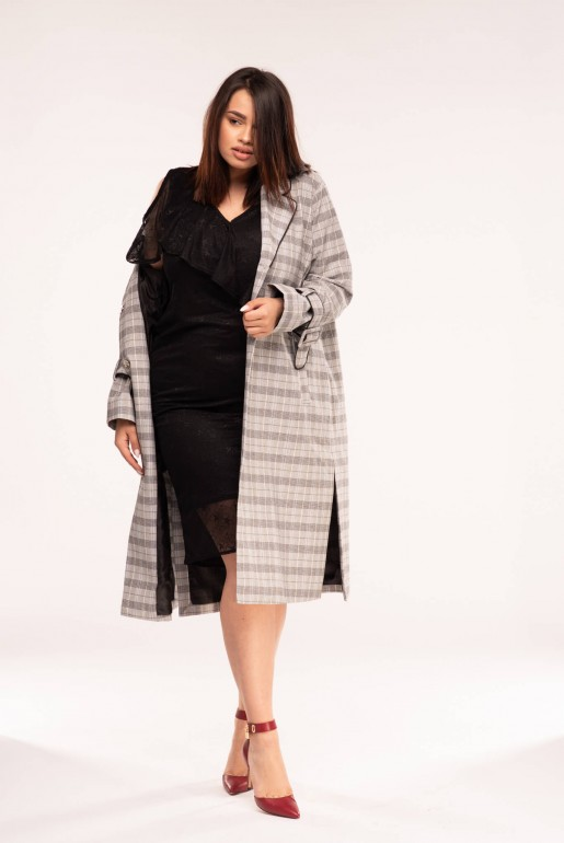 DUSTER COAT IN CHECK - Image 1