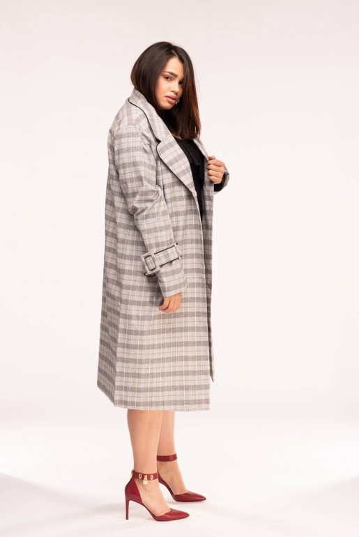 DUSTER COAT IN CHECK - Image 2