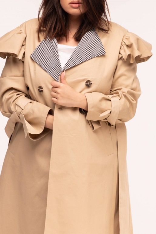 TRENCH COAT WITH GINGHAM