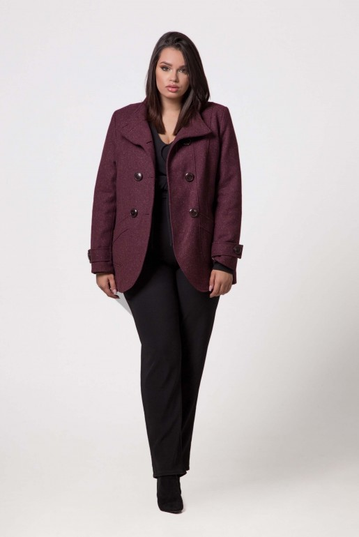 SHORT COAT MARIKA IN WINE