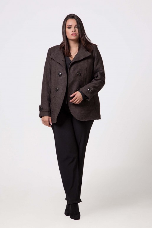 SHORT COAT MARIKA GREY