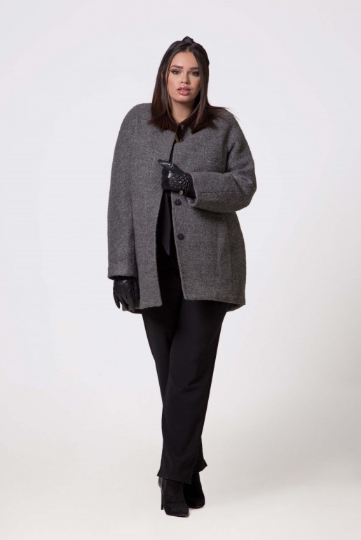 WOOL COAT JACKIE KENNEDY IN GREY