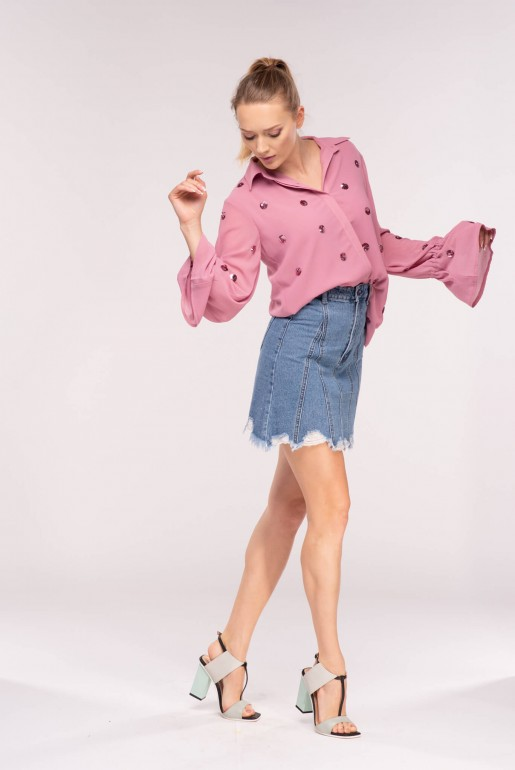 SCATTER SPOT SEQUIN SHIRT
