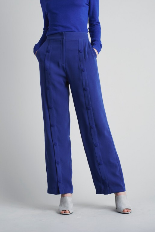 SNAP FRONT TROUSERS