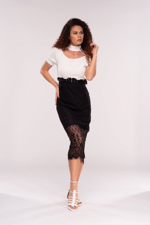 PAPERBAG LACE SKIRT