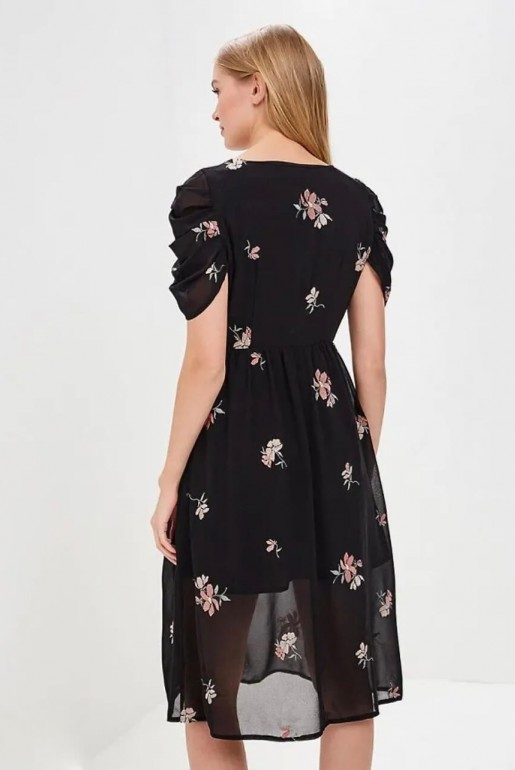 MIDI DRESS WITH FLORAL EMBROIDERY - Image 5