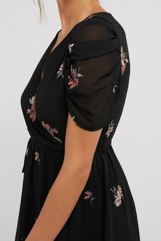 MIDI DRESS WITH FLORAL EMBROIDERY - Image 6