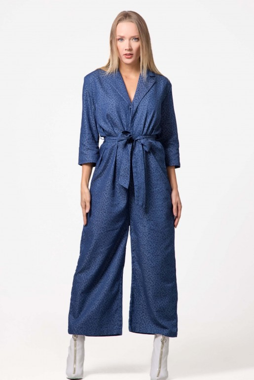 DENIM JACQUARD JUMPSUIT - Image 2