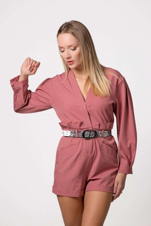 PLAYSUIT WITH BELT DETAIL - Image 5