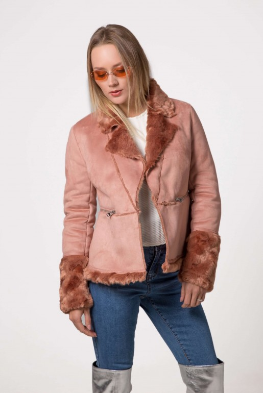 SHORT SKIRTED SHEARLING