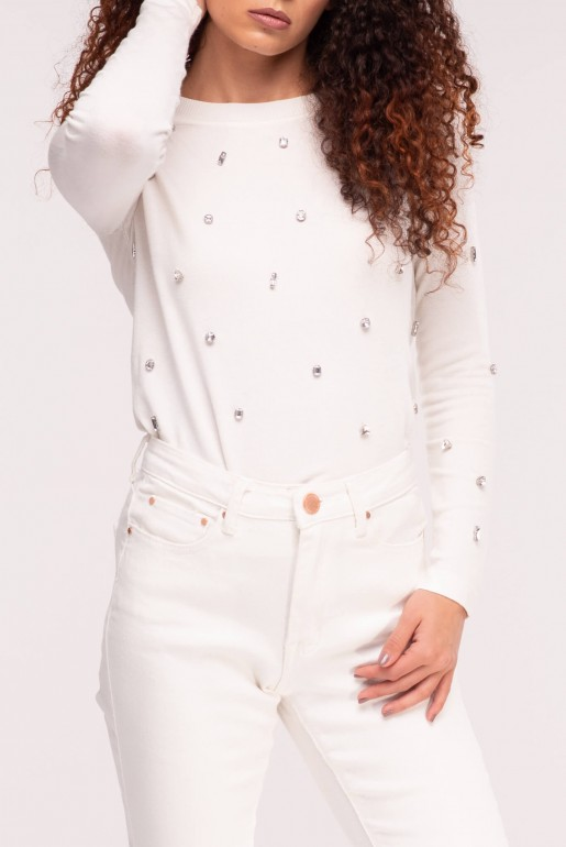 MID RISE SKINNY IN WHITE ROSE - Image 5