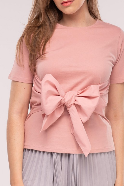 Bow front tee