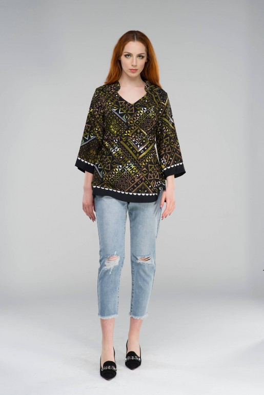 Tunic in geometric print - Image 3