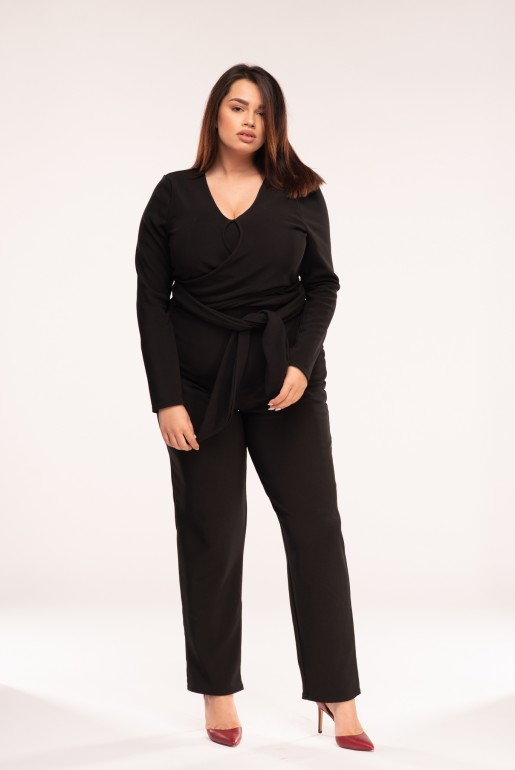 JUMPSUIT WITH TWIST WRAP