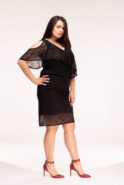 LACE DRESS WITH FRILL - Image 3