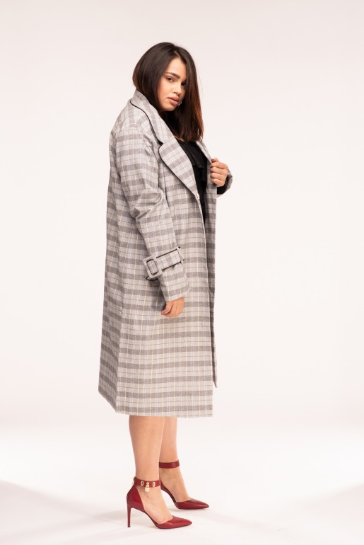 DUSTER COAT IN CHECK