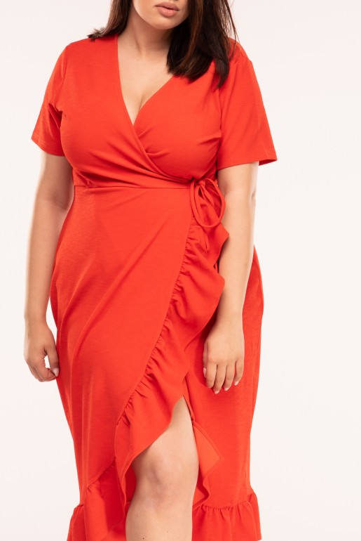 JERSEY WRAP DRESS WITH FRILL - Image 3